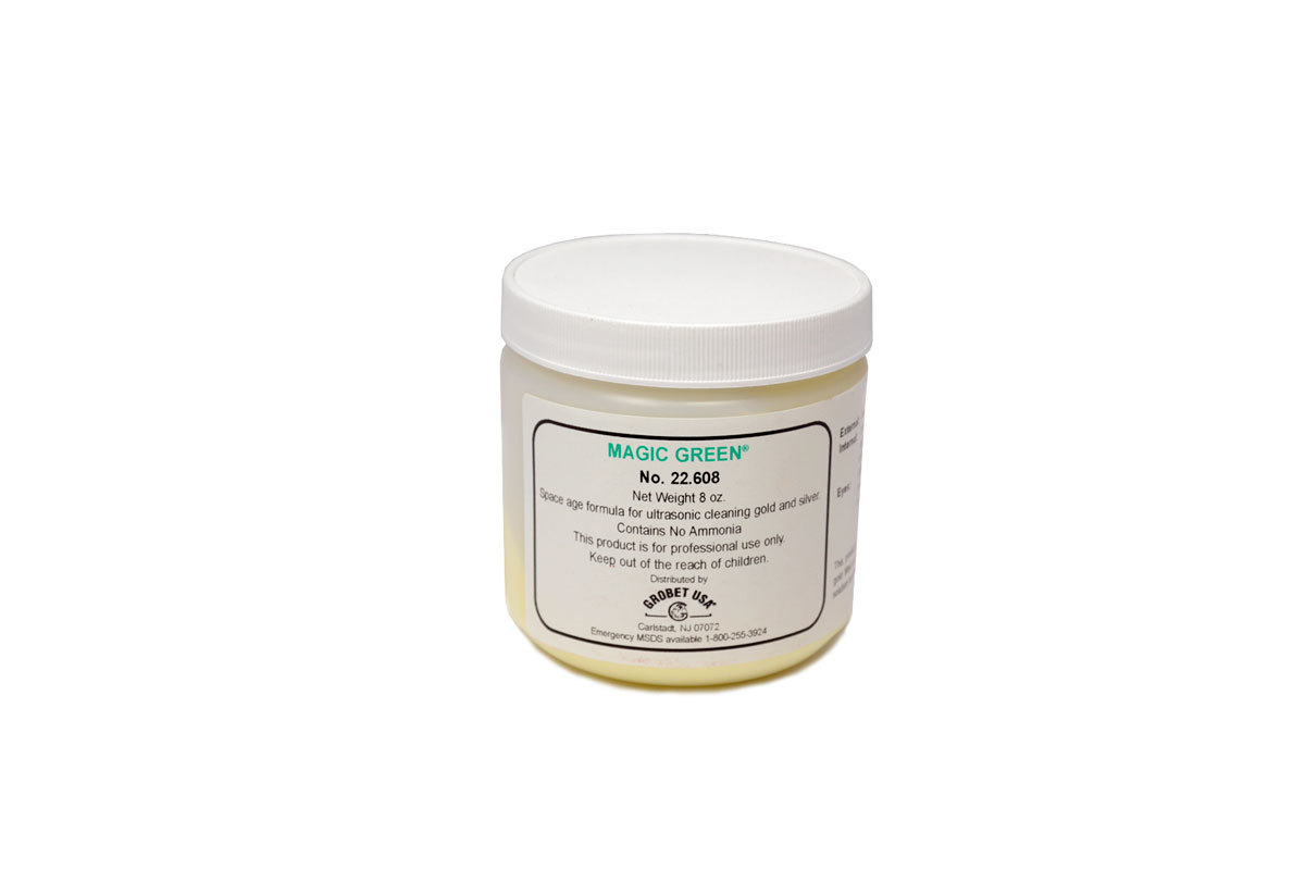 Magic Green Ultrasonic Cleaning Concentrate - 8 oz. jar