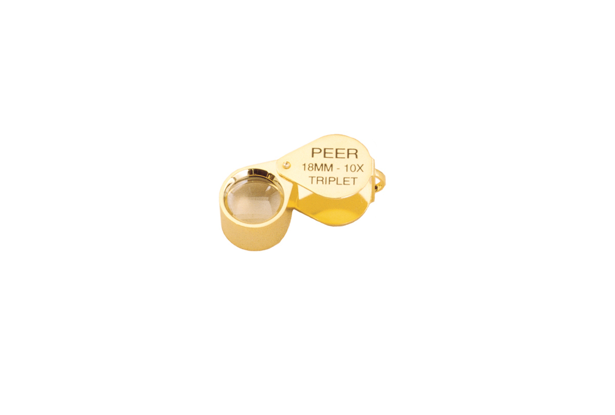 Peer® 10X Triplet Magnifier, Gold Plated