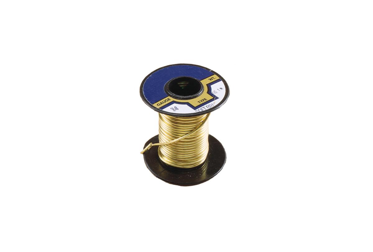 Brass Spring Wire, 22 gauge