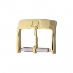 Genuine Omega 12mm buckle, yellow plated-0