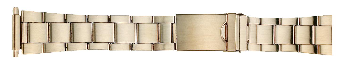 Men's Sport Yellow Metal Watch Band 16-22mm