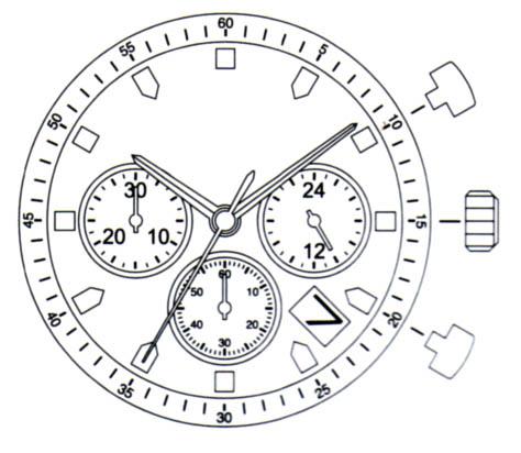 Miyota JS25 Watch Movement-0