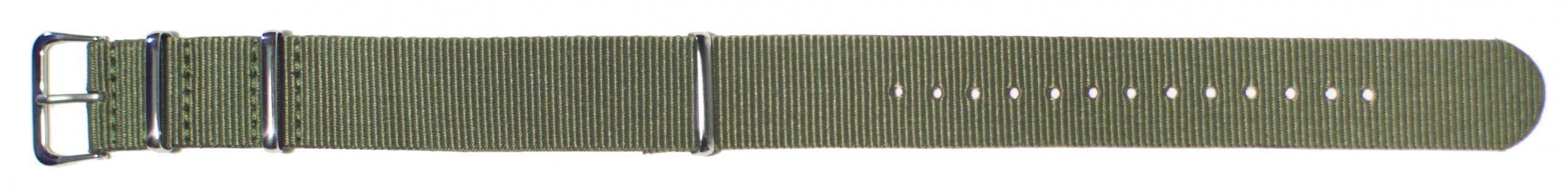 Nato Style Olive Nylon Watch Strap, 20mm