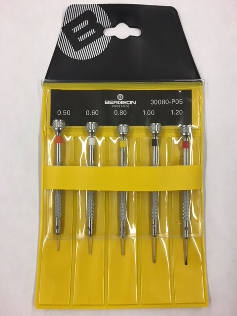 Bergeon 30080-P05 Screwdriver Set in Pouch