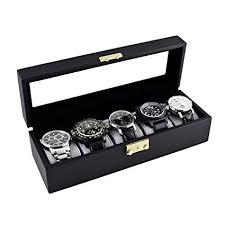Watch Case Storage Display Box, Holds 5 Watches