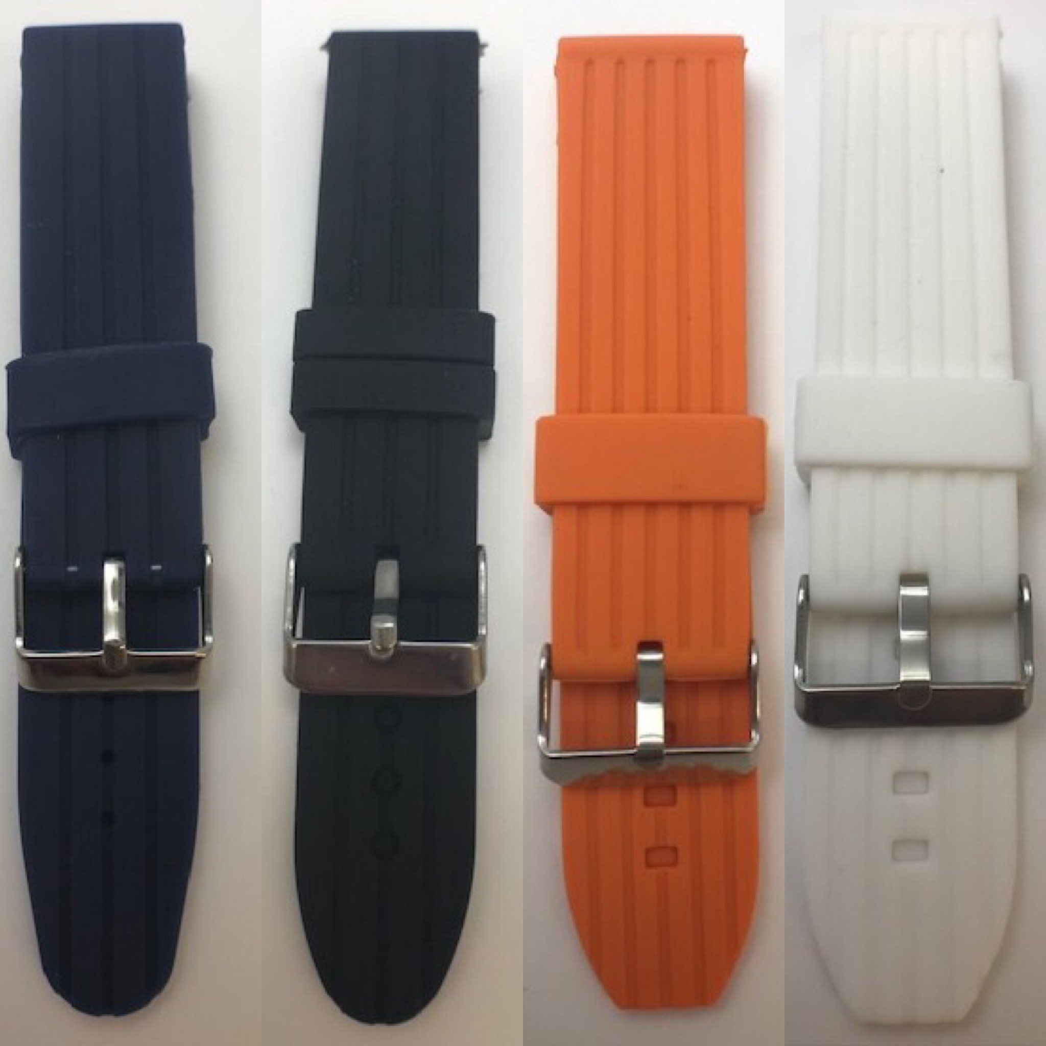 22mm Silicone Flexible Watch Strap