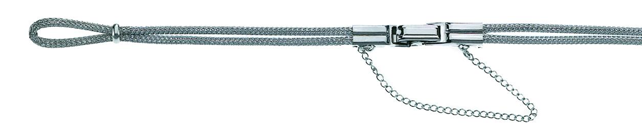 Ladies Estate Stainless Steel Mesh Cord Watch Bracelet