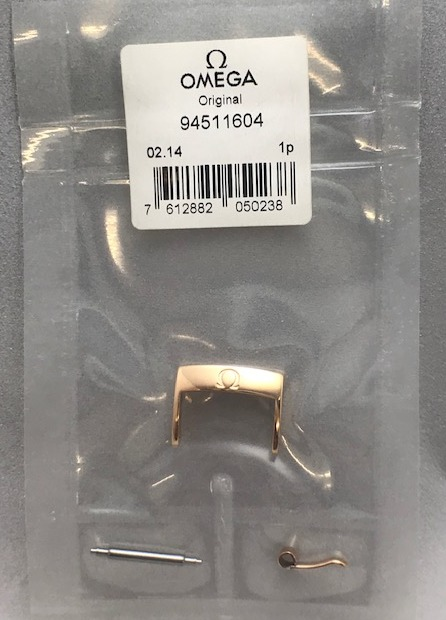 Genuine Omega Buckle 16mm, Pink Gold Plated