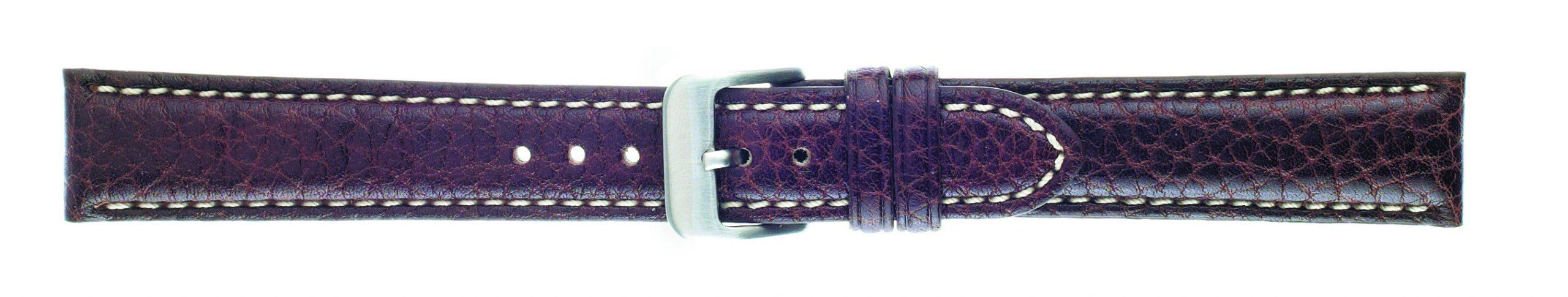 22mm Buffalo Chrono Dark Brown Leather Strap-0