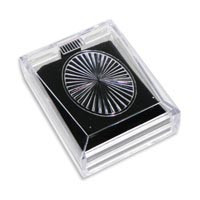 Clear Acrylic Pendant/Earring box with Black Velvet insert - Closeout!-0