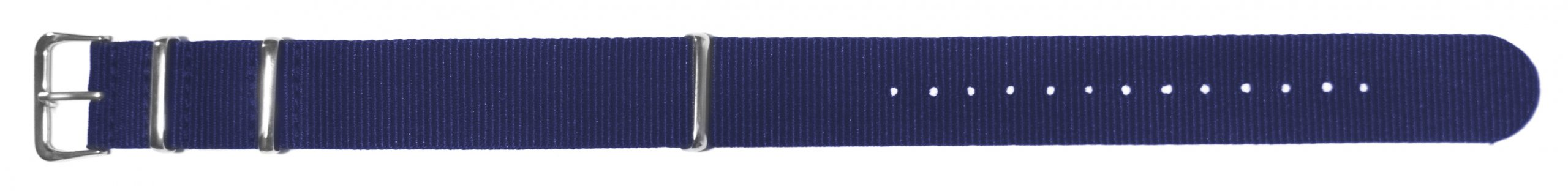 Nato Style Navy Blue Nylon Watch Strap, 20mm