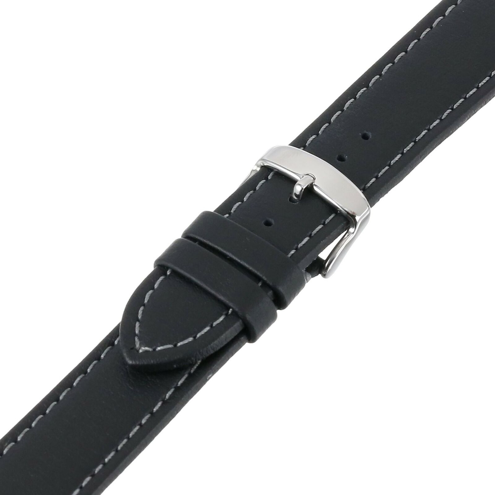 22mm Hadley Roma Genuine Lorica Black Vegan Leather - Invicta Style