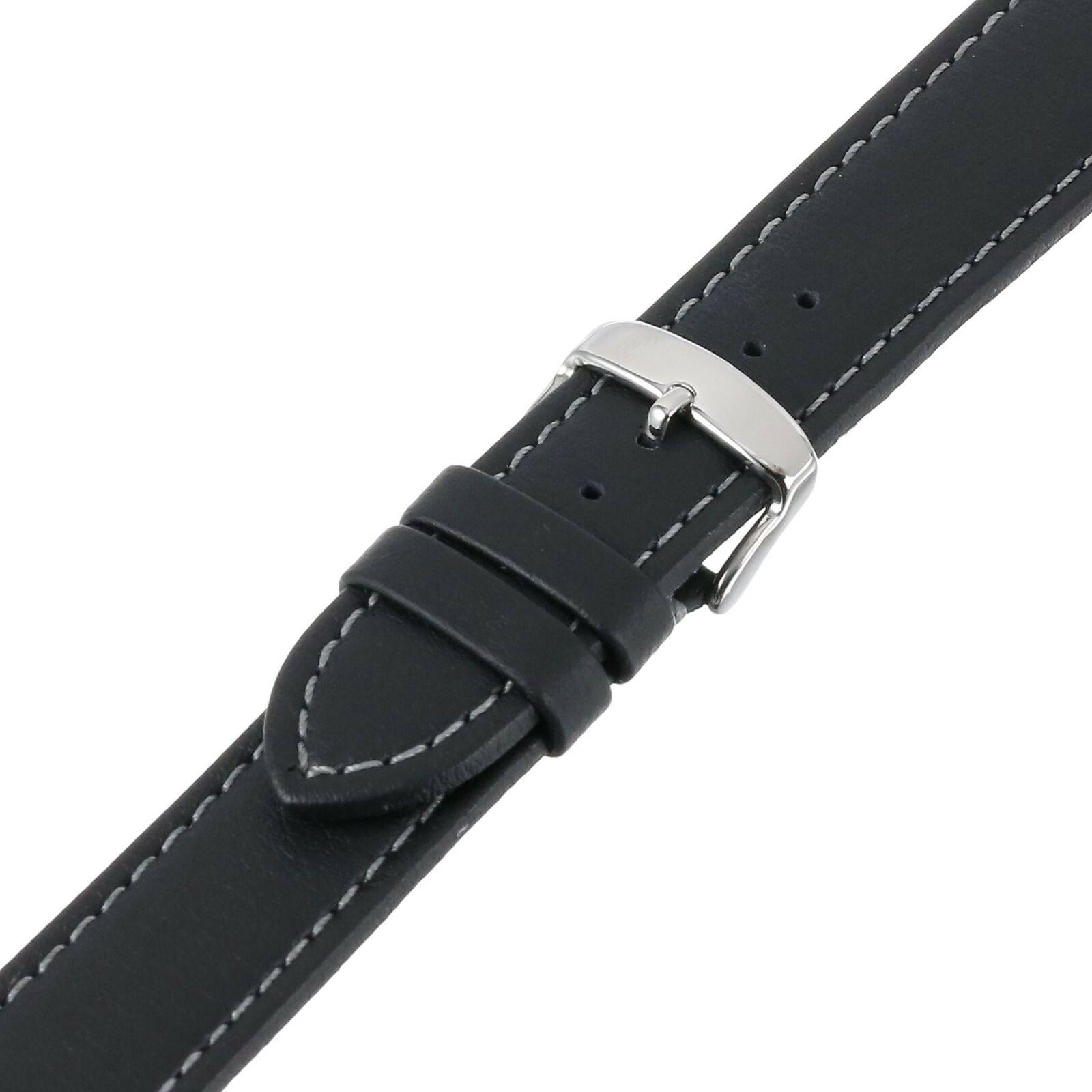 24mm Hadley Roma Genuine Lorica Black Vegan Leather - Invicta Style