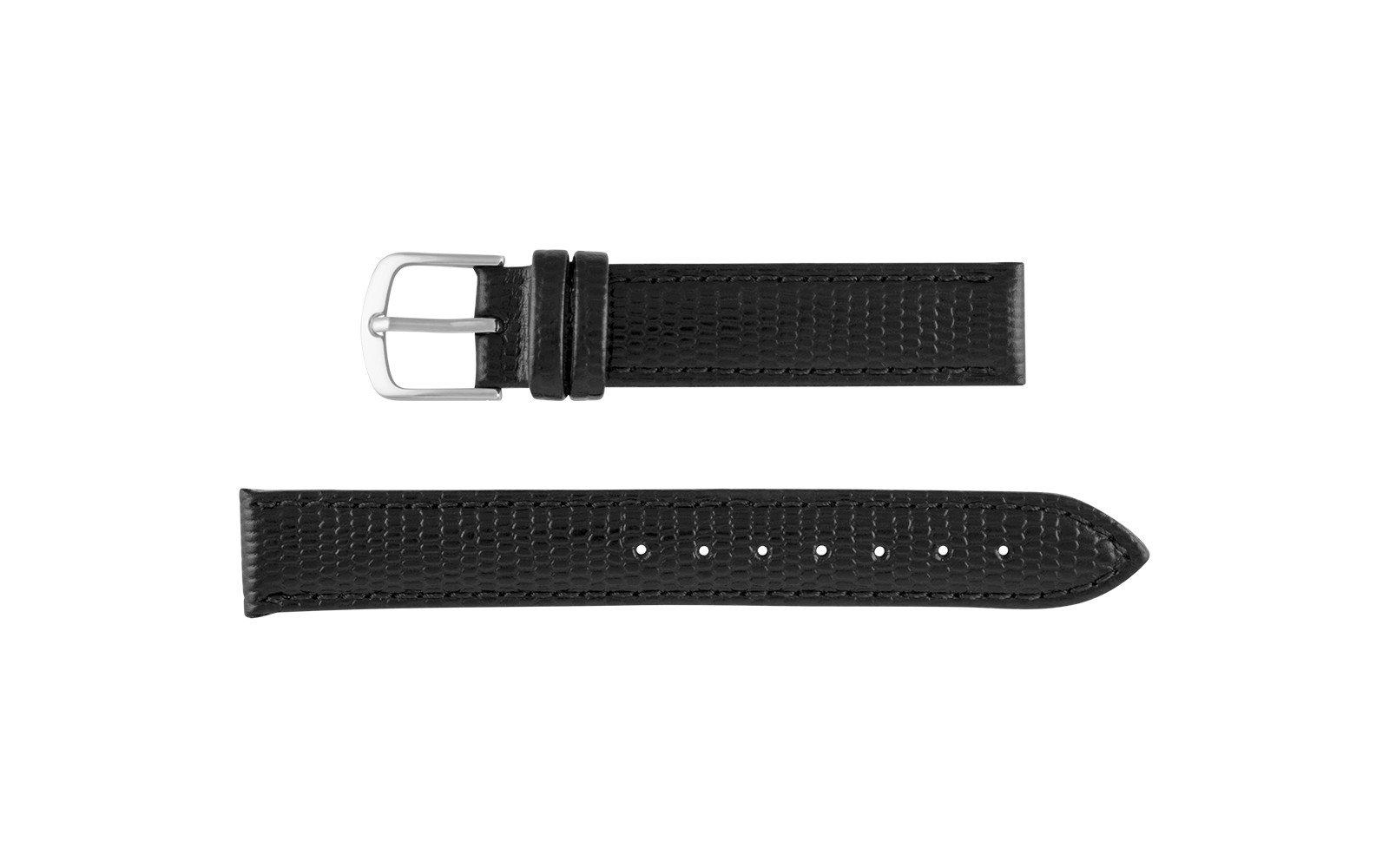 14mm Hadley Roma Black Java Lizard Grain Women's Watch Strap