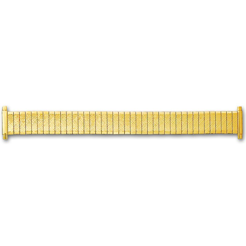 Hadley Roma Gents Gold Plated Expansion Band, Fits 16-20mm Ends
