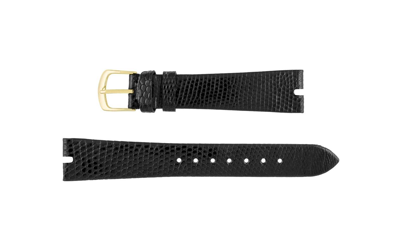 Hadley Roma Genuine Java Lizard Black Watch Band, Gucci® Style
