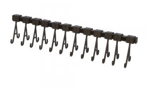 Ultrasonic Cleaning Ring Rack with 12 Movable Hooks