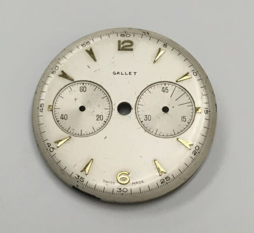 Vintage Gallet Chronograph Dial-0