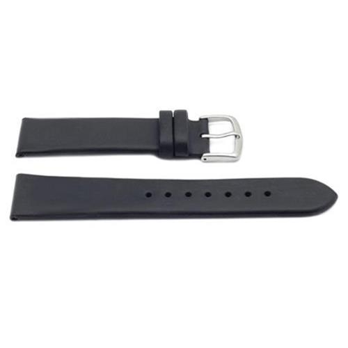 Hadley Roma 20mm Black Oil Tan Leather Watch Strap, Kenneth Cole® Style