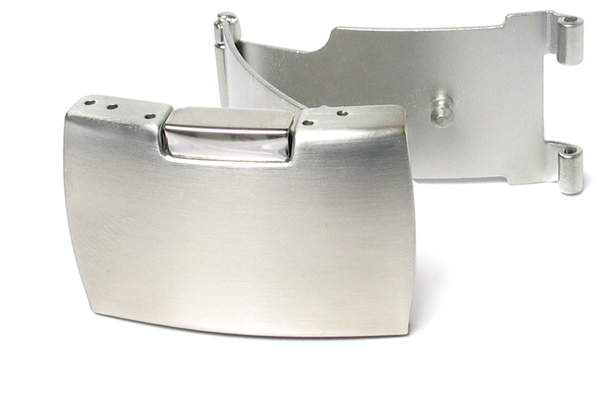 Tri Fold Stainless Steel Single Side Button Watch Clasp