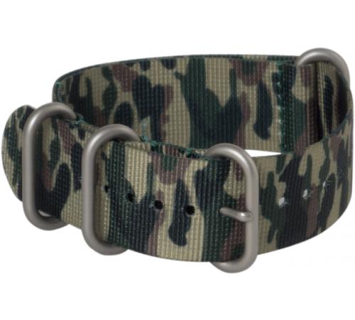 Hadley Roma 18mm Nato Style Military Camo Nylon Strap